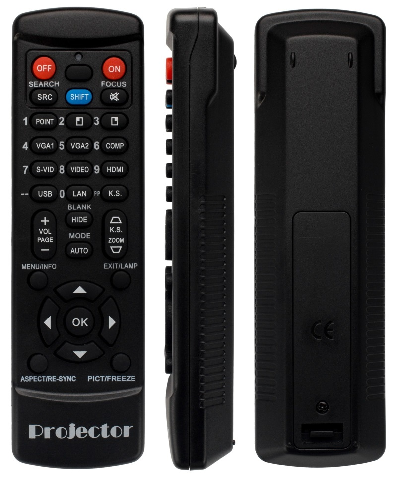 Acer XD1270D replacement remote control for projector