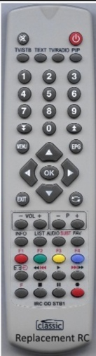 max RM-F01 RM-F04 replacement remote control of a different appearance. For SAT only. receiver