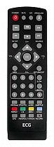 Sencor SDV8806T = ECG DVD4550DVB-T, EDVD3250D, DVD3250HPVR replacement remote control different look